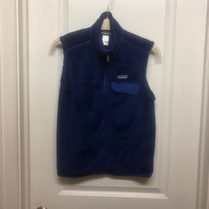 Women's Patagonia Fleece Vest- Blue Large